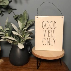 rae dunn good vibes only wall sign